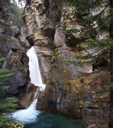 Waterfalls in narrow canyon,Johnston Canyon,Banff,Alberta, Canada Stock Photo - 1905863
