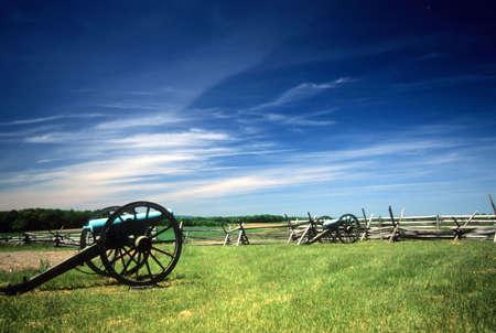 角度、内戦戦場、ゲティスバーグ国立戦場跡公園、ペンシルバニア近くナポレオン ミサイル発射機電池