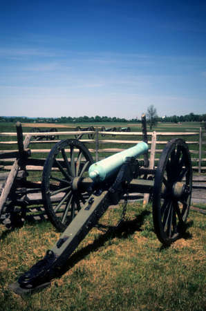 Napoleon artillery battery near the Angle,  Civil War battlefield, Gettysburg National Battlefield Park, Pennsylvania   photo
