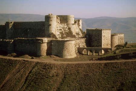 Krak des Chevaliers, most famous Crusader castle,   Syria