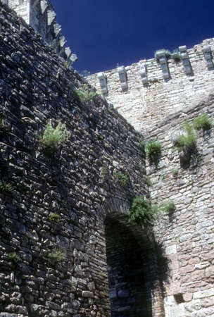 Walls, castle of Rocca Majiore   above Assisi, Italy