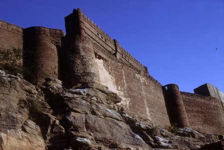 Citadel, castle of Jodhpur fort,  Rajasthan, India
