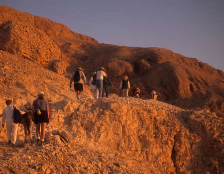 Early morning hike to Valley of the Kings,LuxorEgypt  Stock fotó