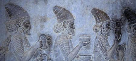 Tribute Bearers (Lydians) [capital city of Persian empire, Darius ]Persepolis, Iran, Middle East Archivio Fotografico