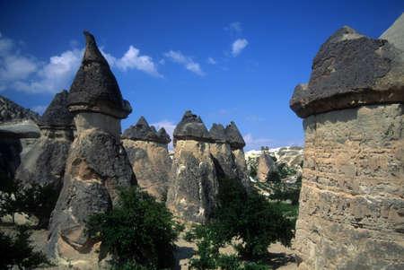 Fairy chimneys in eroded badlands near Zelve,Turkey  Stock Photo - 2093732