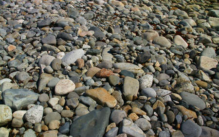 granite park: Granite pebbles, rounded by the ocean -Acadia National Park, Mount Desert Island , Seawall  , Maine, New England
