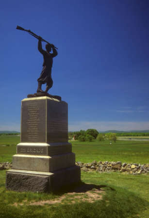 that: High Water Mark, monument to Union troops that stopped Picketts Charge,  Gettysburg National Historical Battlefield, Pennsylvania,