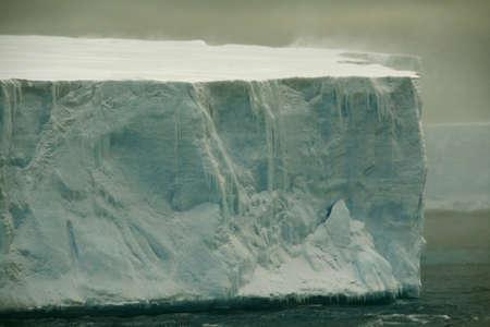 tabular: Tabular iceberg in Antarctic Sea,  Erreras Channel,  Antarctica   Stock Photo