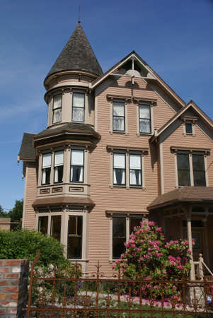 pilasters: Old Victorian house, now a bed & Breakfast, 19th century home,  Port Townsend, Pacific Northwest, Washington