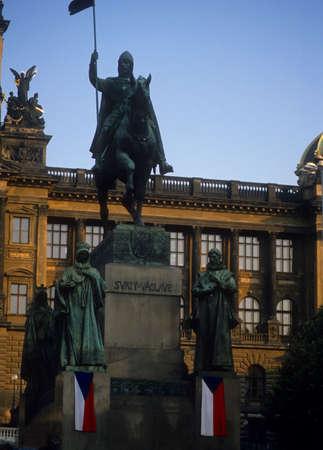 Saint Wenceslas Statue,Prague,Czechoslovakia [Czech Republic]