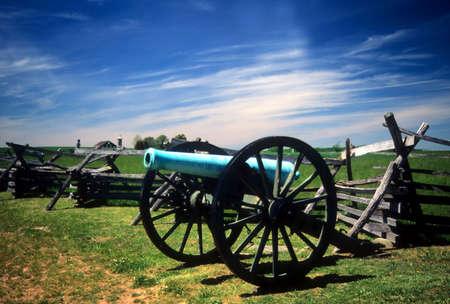 Napoleon, 12 lb cannon, near Peach OrchardGettysburg National Historical Battlefield,Pennsylvania,  Archivio Fotografico