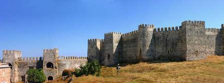 Panorama - Mumure Castle - exterior towers and walls Anamur Turkey photo