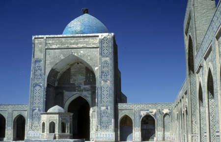 Mosque & medresseh [madrassah], Registan Square, Timurid era, Samarkand former USSR, now Uzbekistan  Stock Photo