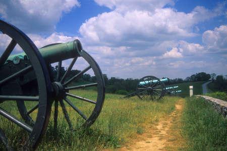 artillery: Napoleon artillery battery   Antietam National Battlefield, American  Civil War, Maryland   Stock Photo