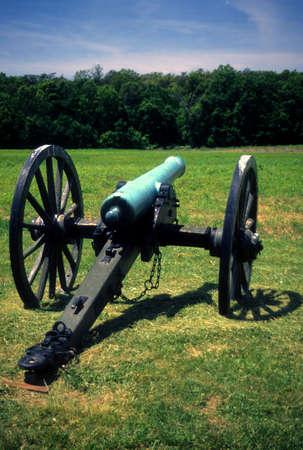 lb: Battery Heights Napoleon, 12 lb cannon Manassas National Historical Battlefield, [Bull Run battle] Virginia,  Stock Photo