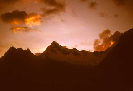 blanca: Sunset over the Andes,  Cordillera Blanca, Peru