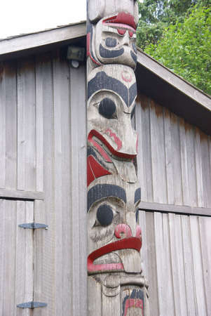 tlingit: Totem pole, near carving shed,  Prince Rupert, British Columbia, Canada