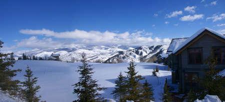 cordillera: Panorama -  rolling hills, conifers and large homes,  Cordillera, Colorado
