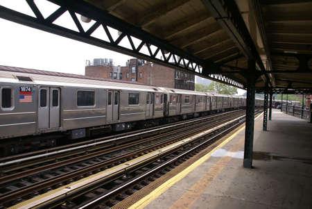 Elevated subway at tip of Manhattan, Spanish Harlem,New York City