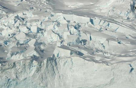 Detail. Glacier icefall,  Neko Harbor, Antarctica