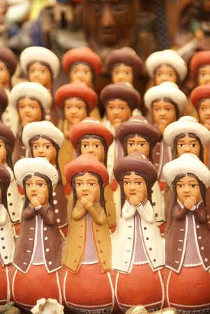 Handmade Indian dolls, Pisac market,  Cusco, Peru, South America   photo
