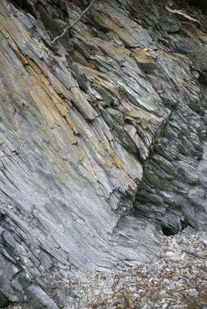Abstract - layers of sedimentary rock, exposed,  Juneau, Alaska