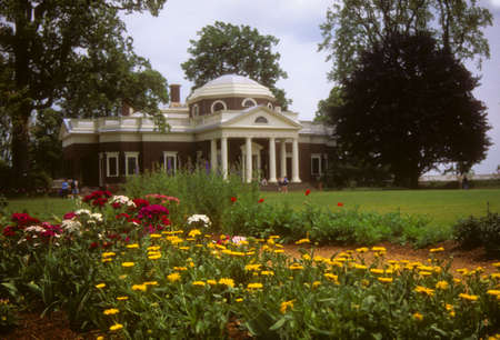 Gardens  at Monticello,			Virginia