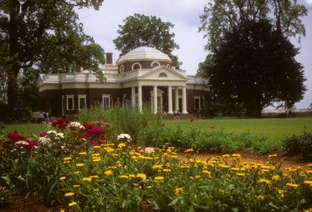 Tuinen op Monticello, Virginia Stockfoto