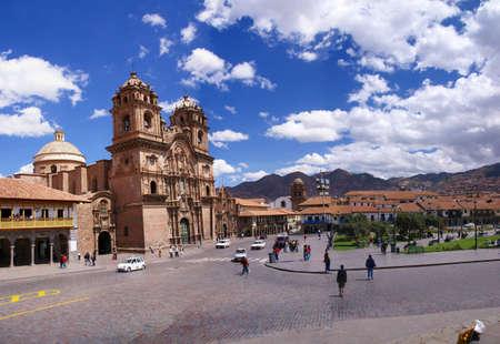 peru architecture: Church of the Company of Jesus,  Plaza dArmas, Cusco, Peru, South America