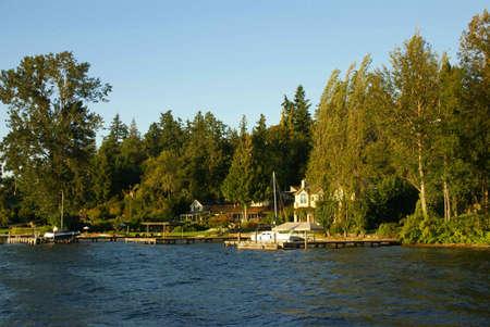 northwest: Waterfront home on Lake Washington,  , Seattle garden, Pacific Northwest