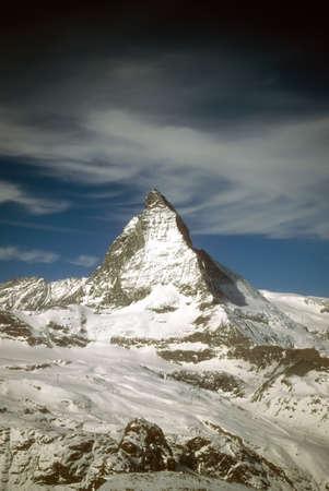 Matterhorn massif with glaciers,  Zermatt, alps, Switzerland photo