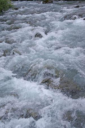dewey: Detail, white water rapids, Dewey Lakes trail, Juneau, Alaska Stock Photo
