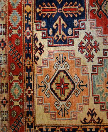 Turkish carpet, details of patterns in oriental design            Foto de archivo