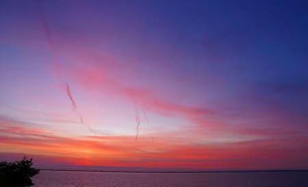 Panorama, Sunset on San Juan de Fuca Strait   Sequim, WA, Olympic Peninsula