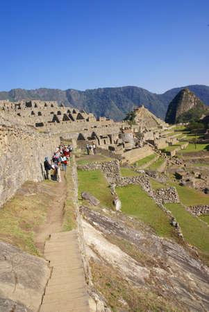 インカの石造りの家、屋根、マチュピチュ、ペルー、南アメリカなし
