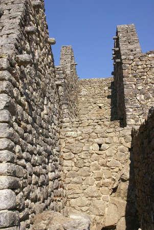 インカの家で細かい石は、インカ遺跡マチュピチュ、ペルー、南アメリカ