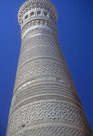 Minaret of mosque,  Bokhara former USSR, now Uzbekistan