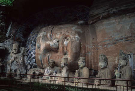 confucian: Ancient Confucian & Buddhist sculptures,  Dazu Temples,  Chongqing China