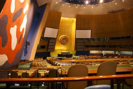 quartier g�n�ral: Salle de l'Assembl?e g?n?rale des Nations Unies pour le Si?ge, ? New York City Banque d'images