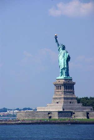 スタテン島からの自由、ニューヨーク港の女神像フェリーします。