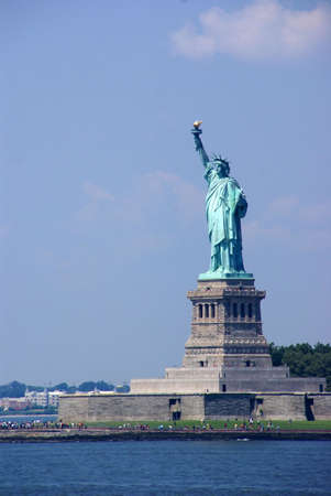 Statue of Liberty, New York Harbor, from Staten Island Ferry,      photo