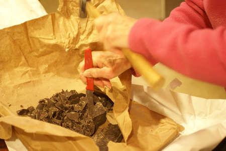 Making fine chocolate truffles by hand,   Seattle Reklamní fotografie