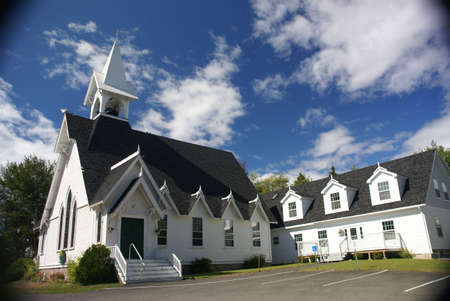 congregational: Congregational Church,   Tremont, Mount Desert Island, Acadia National park, Maine, New England Stock Photo