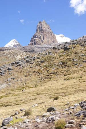 Trapecio mountain, rocky peak,  Cordillera Huayhuash, Andes,  Peru, South America