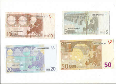 International currency - Euros of various denominations    Editorial