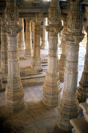 Hall of columns of Jain temple,   Ranakpur, India,Asia Stock Photo - 5768935