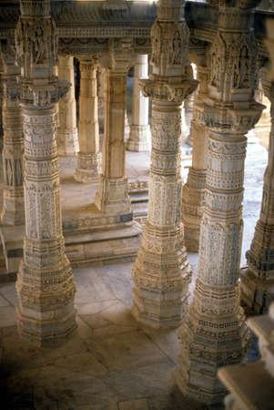 Hall of columns of Jain temple,   Ranakpur, India,Asia Stock Photo - 5768935