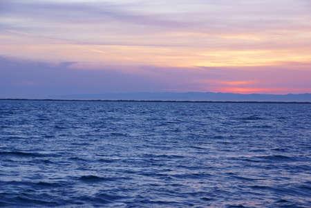 strait of juan de fuca: Sunset on San Juan de Fuca Strait   Sequim, WA, Olympic Peninsula
