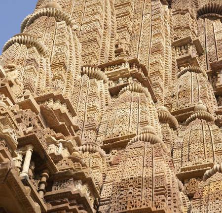 Detail, shikhara temple spires of  Kandariya Mahadeva Temple at  Khajuraho in  India, AsiaSC Stock Photo - 6072296
