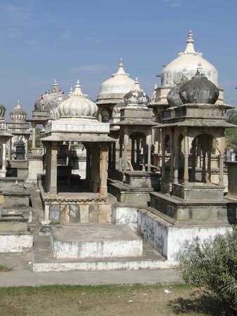 Ahar cenotaphs of the Maharanas of Mewar, Udaipur,  Rajasthan,  India, Asia
